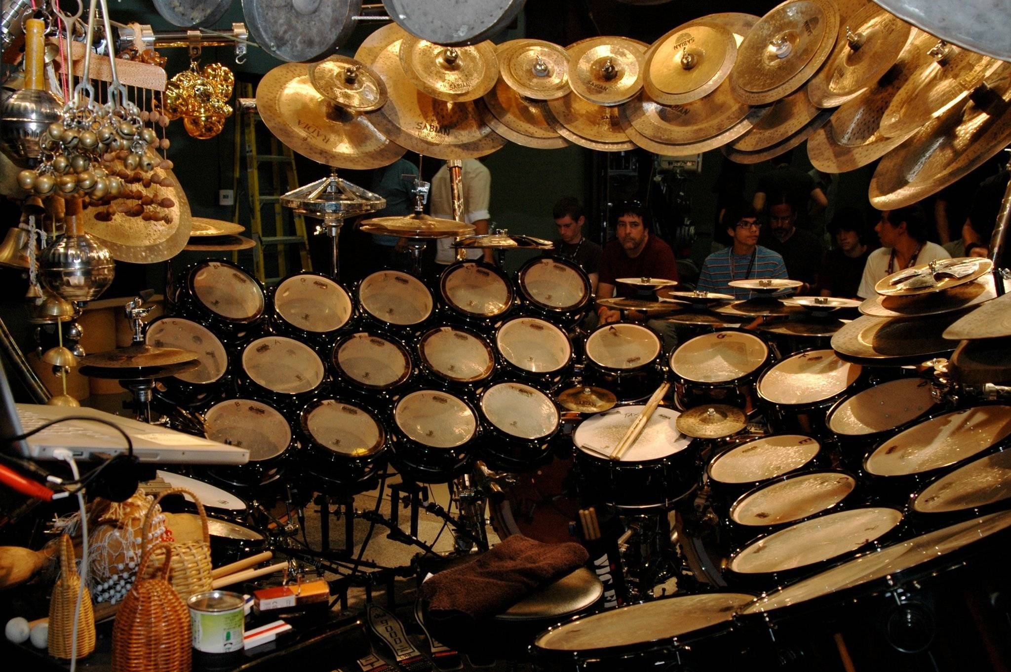 A Drummers Guide - Showing a massive drumkit